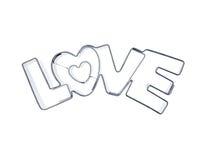 Love word ramekins Stock Image