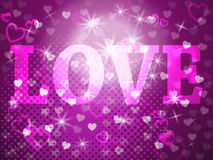 Love Word Represents Passion Tenderness And Fondness. Love Word Showing Lovers Lover And Words Royalty Free Stock Photos