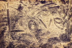 Love word on sea beach Royalty Free Stock Images