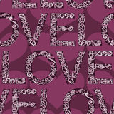 Love word seamless background tile Royalty Free Stock Images