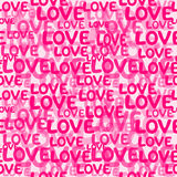 Love word seamless pattern Royalty Free Stock Image