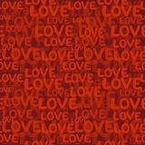 Love word seamless pattern Stock Image