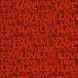 Love word seamless pattern Stock Image
