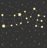 Love word in the starry night sky cute lovely and romantic illustration Stock Images