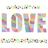 Love word. Vector graphic illustration design art Stock Images
