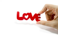 Love word on white background Royalty Free Stock Photography