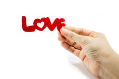 Love word on white background Stock Images
