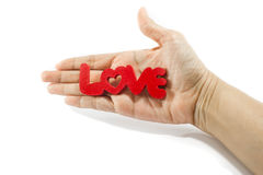 Love word on white background Stock Photo