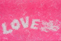 Love wording arrange by bead Royalty Free Stock Images