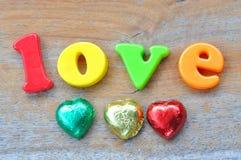 Love wording Stock Photo