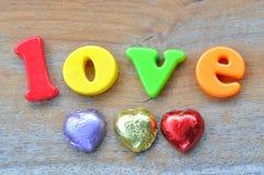 Love wording Stock Photos