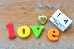 Love wording Royalty Free Stock Images