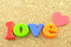 Love wording Stock Image