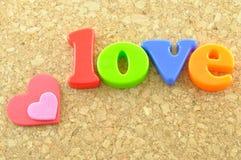 Love wording Stock Photography