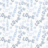 Love Words and Hearts Seamless Texture Royalty Free Stock Photos