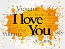 love words `I love you` in all languages of the world