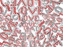 Love words seamless background. Pattern of the word love Royalty Free Stock Image