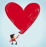 Love on work. Neat  illustration Stock Image