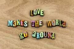 Love world positive attitude life live family expression royalty free stock image