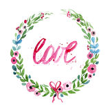 Love wreath Stock Photos