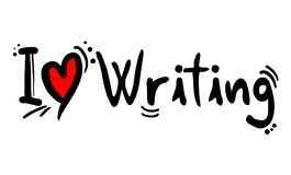 Love writing message. Creative design of Love writing message stock illustration