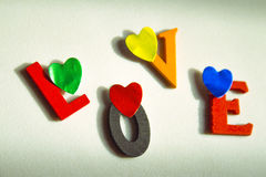 Love written in colorful letters Royalty Free Stock Photography