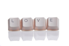 LOVE written with keyboard buttons Stock Image