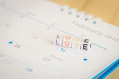 LOVE written in letter beads Stock Image