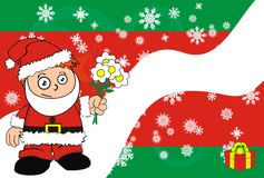 Love Xmas santa kid cartoon expression postal Stock Images