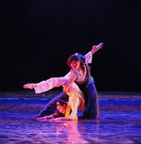 Love yoga-The dance drama The legend of the Condor Heroes. In December 2, 2014, a large Chinese dance drama the legend of the Condor Heroes for the first time to Royalty Free Stock Image
