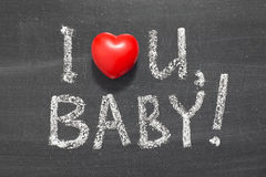 Love you baby Stock Images