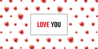 Love You background Stock Image