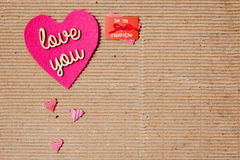 Love You - Be my valentine Royalty Free Stock Image
