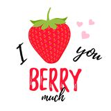 Love you berry much quote design. Vector illustration. Stock Photography