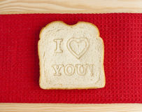 Love you bread Stock Photography