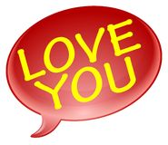Love you bubble Royalty Free Stock Photo