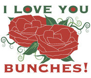 Love You Bunches! Royalty Free Stock Photo