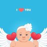 'Love you' card Stock Image