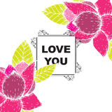 Love you card Royalty Free Stock Image