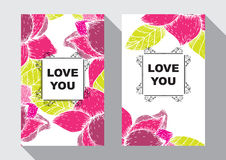 Love you card Royalty Free Stock Images