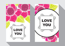 Love you card Stock Photography