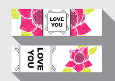 Love you card Stock Image