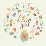 Love you card stock illustration