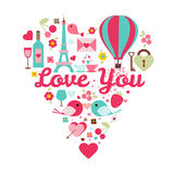 Love you color set Stock Images