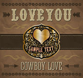 Love you - Cowboy love Stock Images