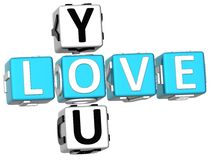 Love You Crossword Royalty Free Stock Photo