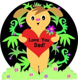 Love You Dad Dog Royalty Free Stock Photos