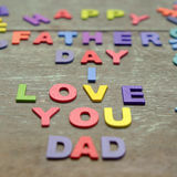 Love you dad, happy father day Royalty Free Stock Photography