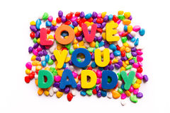 Love you daddy Royalty Free Stock Photography
