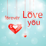 Love you forever & ever Royalty Free Stock Photo